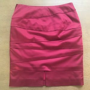 Deep wine burgundy satin feel skirt